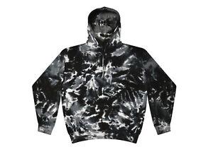 Multi Black Tie Dye Hoodie Sweatshirts Adult & Kids Sizes With Pockets