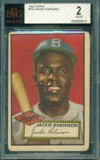Jackie Robinson 1952 Topps #312 ** BVG 2 ** Top 25 Baseball Card