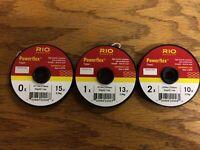 Rio Powerflex Tippet 3 Pack 0X, 1X, 2X Free Shipping