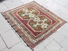 Turkish Rug 53''x60'&# 039; Hand Woven Kars Carpet 137x154cm