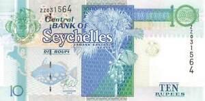 SEYCHELLES 10 Rupees 2013, P-36c Replacement, ZZ 031564, Pack Fresh Original UNC