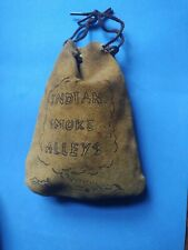 Vintage bag of Marbles in Leather Indian Smoke Alleys Bag