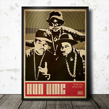 Run DMC Hip Hop Art Poster Rap Music Ice Cube NWA Public Enemy Eric B & Rakim