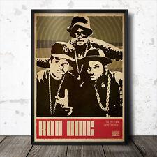 Run DMC Hip Hop Art Poster Rap Music Ice Cube NWA Public Enemy Eric B & Rakim