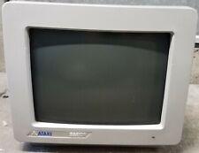 Atari SM124 Computer Hi-Res mono Monitor Screen Display