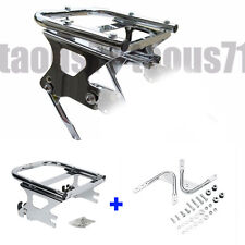 Detachable Two-up Tour Pack Mount Rack w/ Docking Hardware Kit for Harley 97-08