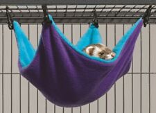 Ferret Hammock Bed Ferret Nation Hideaway Hammock Large Teal Purple for Cage New