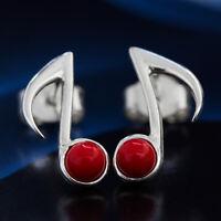 Koralle Silber 925 Ohrringe Damen Schmuck Sterlingsilber S0582