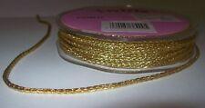 2 metres length of 2mm Gold Metallic Cord Christmas