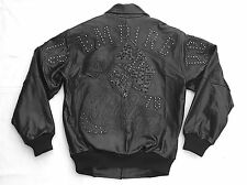2017 PELLE PELLE EMBELLISHED LEATHER JACKET EMPIRE BLACK IGUANA SIZE 50 / XL
