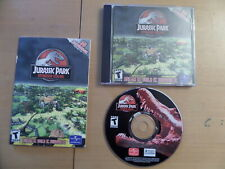 Jurassic Park Operation Genesis + 32 Page Manual PCCD **Windows 98ME2000XP**