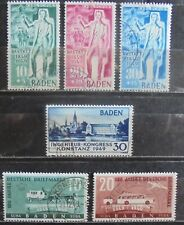 ALLIED OCCUPATION 1949 Baden, Complete Issues 6 Used