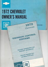 1972 CHEVROLET IMPALA CAPRICE BEL AIR US Owners Manual - Good Condition