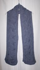 New Handmade Knitted Denim Heather Inter Weaved Large Cable Scarf
