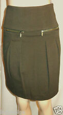 WORTH Solid Green Rosemary Knit Zip Pocket Pleated Front Skirt size 6 $198 NWT