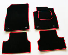 Perfect Fit Black Car Mats for Nissan Pulsar GTI-R 90-94 - Red Leather Trim