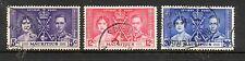 Mauritius 1937 Coronation fine used set stamps