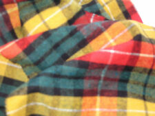 C24 MULTI VIBRANT COLOURED BRUSHED COTTON TARTAN PLAID CHECK MADE IN ITALY