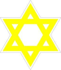 Star of David YELLOW VINYL STICKER BUMPER DECAL RELIGIOUS CAR 05 Jewish Israel