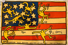 SIGNED Keith Haring American Music Festival New York City Ballet 1988 Art Poster