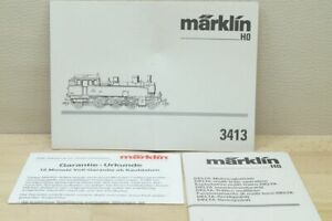 HO Märklin 3413 Betriebsanleitung Beschreibung für Dampflok 131 Ta der SNCF