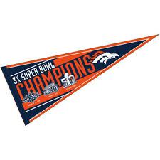 Denver Broncos NFL 3 Time Super Bowl Champions Pennant