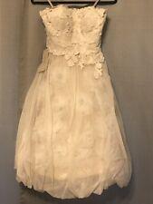 Quillaree Original; BHLDN; Wedding/Formal Dress; Size 8; Floral Artwork