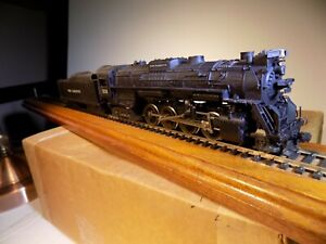 Rivarossi HO Scale Perf Marquette 2-8-4 #1222 Tested / Runs Pre-owned