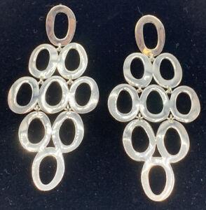 NWOT IPPOLITA Sterling Silver   Open Cascade Chandelier  Earrings MSRP $350