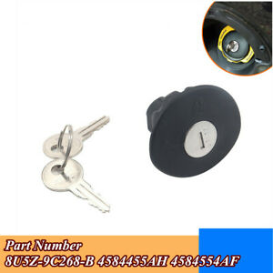 Gas/Fuel Tank Plug Cover Locking w/ 2 Keys Part #8U5Z-9C268-B For Ford Mercury
