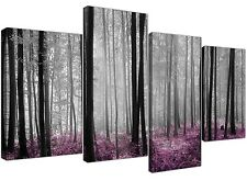 Canvas Prints of Plum Forest Woodland Trees in Black White Pictures