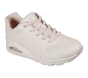 Skechers Street NEW Uno Frosty Kicks pale pink womens retro fashion trainer 3-8