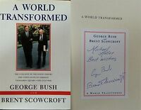George Bush Brent Scowcroft Signed A World Transformed 1st Ed Hardback Book JSA