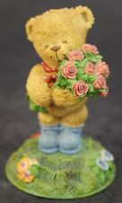 THINKING OF YOU The Wonderful World Of Rambling Ted Teddy Bear Rose Figurine