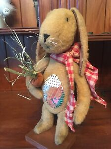 Primitive Bunny Rabbit Hand Made / Easter and Spring Decor / Standing