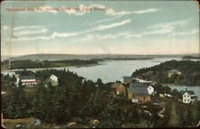 Penobscot Bay ME North From Cape Rosier c1910 Postcard
