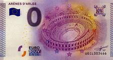 BILLET 2015 ZERO 0 EURO SOUVENIR 13 ARLES ARÈNES EURO SCHEIN
