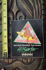 Gecko Surfboards Dinosaur 80's Neon Hawaii Maui Surf V10 Vintage Surfing Sticker