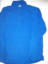 kuscheliger, blauer Fleece-Pullover QUECHUO (Decathlon), Gr. M, Polyester..