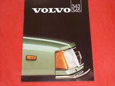VOLVO 343 345 L DL DLS GL GLS Prospekt von 1982
