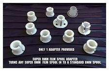 Super 8mm to Standard 8mm Quality Cine Spool / Reel Adapter