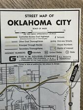 Hertz Rent-a-Car Street Map Of Oklahoma City 1974 Original-Vintage!