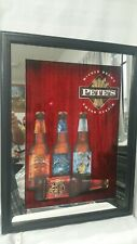 """New Pete's Wicked Ale Lighted Sign 27""""x20"""" Lamp Poster Real Glass Beer Bar"""