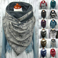 Mens Womens Casual Printed Shawl Thick Neckerchief Wrap Cover Scarves Warm Scarf