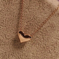 Sweet Exquisite Pretty Gold Plated Heart Women  Chain Jewelry Pendant Necklace F