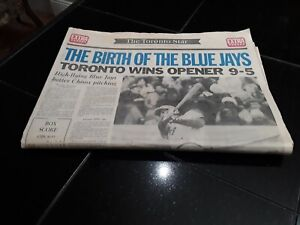The Toronto Star Newspaper. The Birth Of The Blue Jays April 7, 1977. Vintage