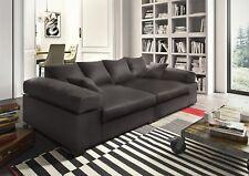Big Sofa Couchgarnitur Megasofa Riesensofa AREZZO - Kunstleder Braun