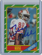 Jerry Rice Signed 1986 Topps Auto Football Rookie Card RP Autographed w/ JSA COA