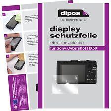 6x dipos Sony Cybershot DSC HX50 unsichtbare Displayschutzfolie Crystalclear
