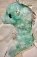"Destination Nation Sea Horse 12"" Stuffed Animal Toy Doll Play Plush Aqua Blue"